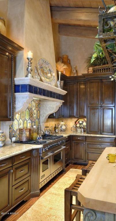 tuscan kitchen Deco  arquitecture Pinterest Cocinas, Lujos y - cocinas italianas