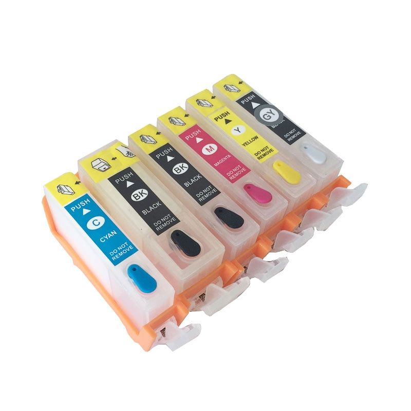 6 Colors Pgi 225 Cli 226 Refillable Ink Cartridges For Canon Pixma