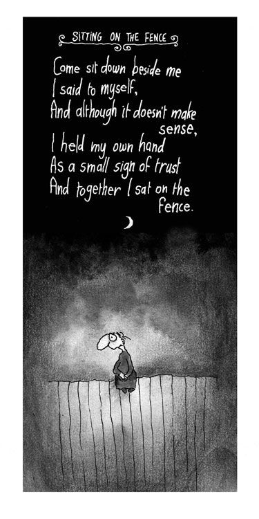Sitting On The Fence Cartoons Archive Words Wise Words Quotes