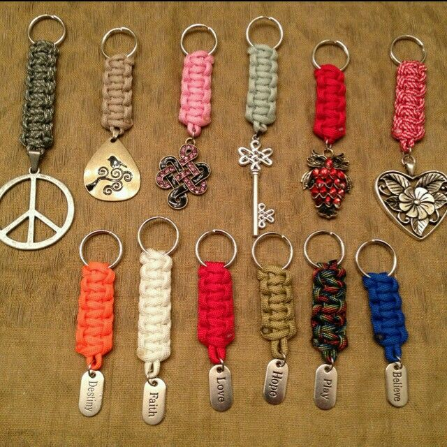 Llaveros macrame bisuteria pinterest paracord craft for Paracord keychain projects