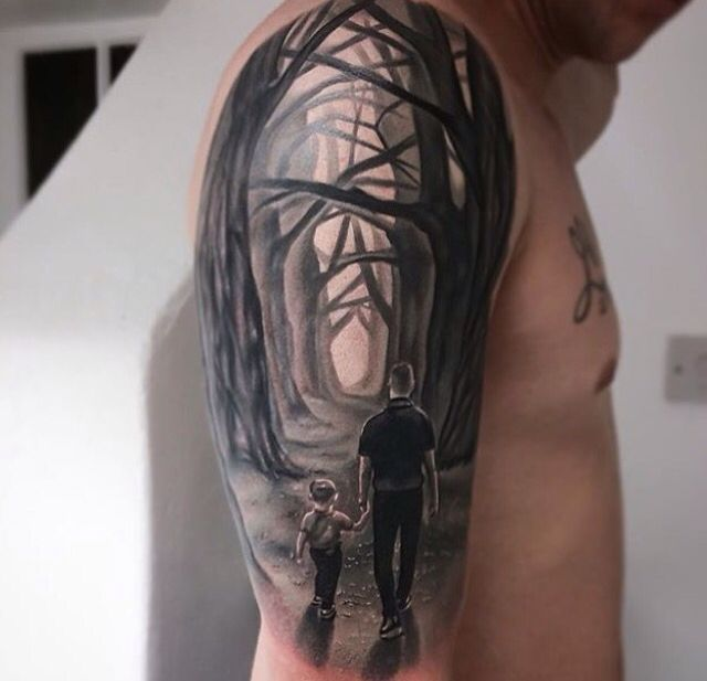 Father Son On Life S Journey Tattoo For Son Tattoos For Daughters Father Son Tattoo