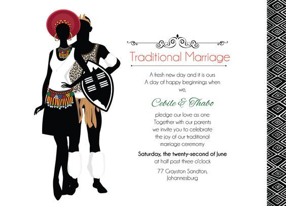 Happy Birthday Wishes In Xhosa ~ Zulu wedding downloadable south african traditional invitation card pretty decor