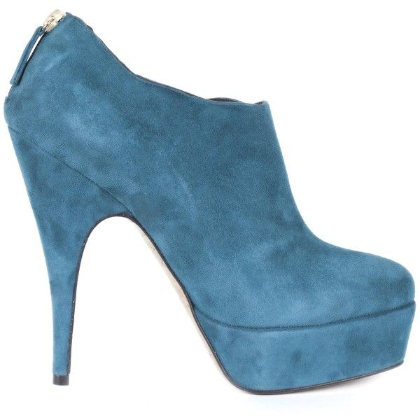 Gaspard Yurkievich Turquoise Suede Ankle Boots found on Polyvore