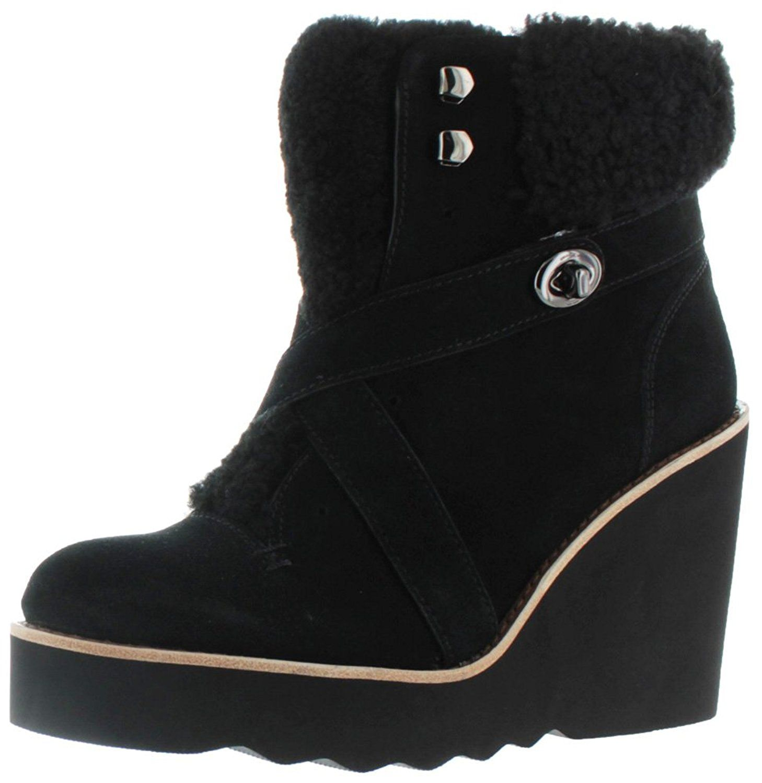 Womens Boots COACH Kenna Black/Black Shearling