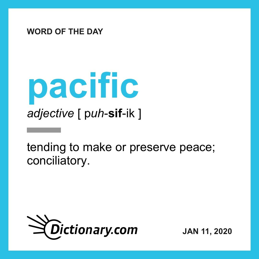 Pacific Word Of The Day January 11 2019 Uncommon Words Word Of The Day Words [ 1080 x 1080 Pixel ]