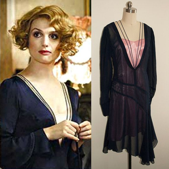 Fantastic Beasts And Where To Find Them Blue Dress Queenie Goldstein Vintage Inspired 1920s Costume