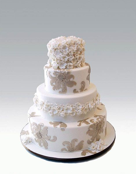 COLLECTIONS - Lace & Beading Cake #11