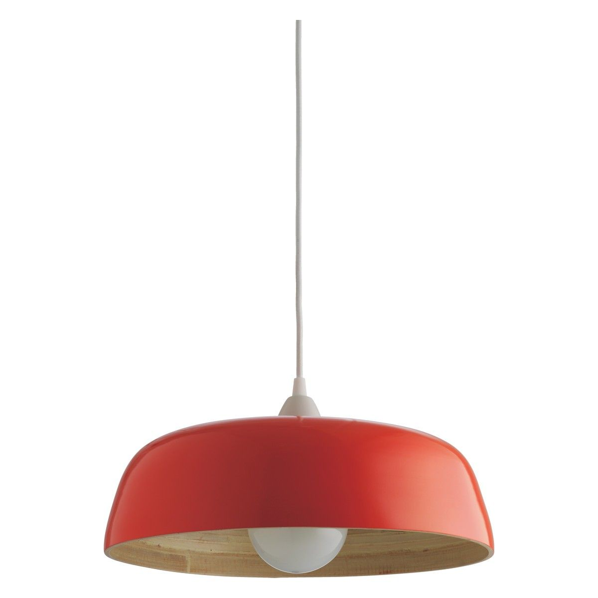 MOXLEY Orange Lacquered Spun Bamboo Ceiling Light Shade Buy Now At