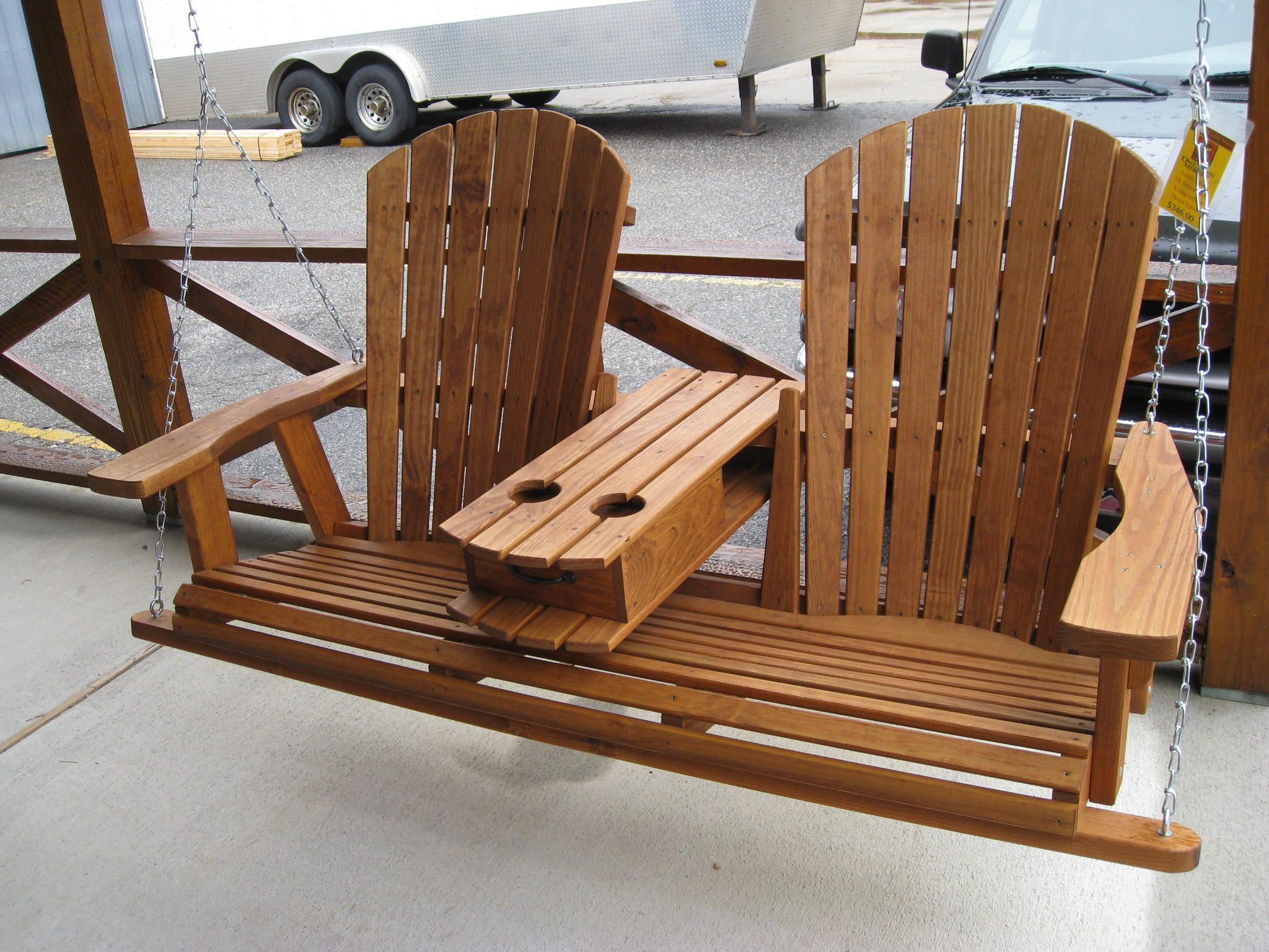 favorite outdoor wood swing chair lovely brown marlette outdoor
