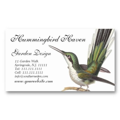 hummingbird cards garden designer gift shop etc business card - Garden Design Business Cards