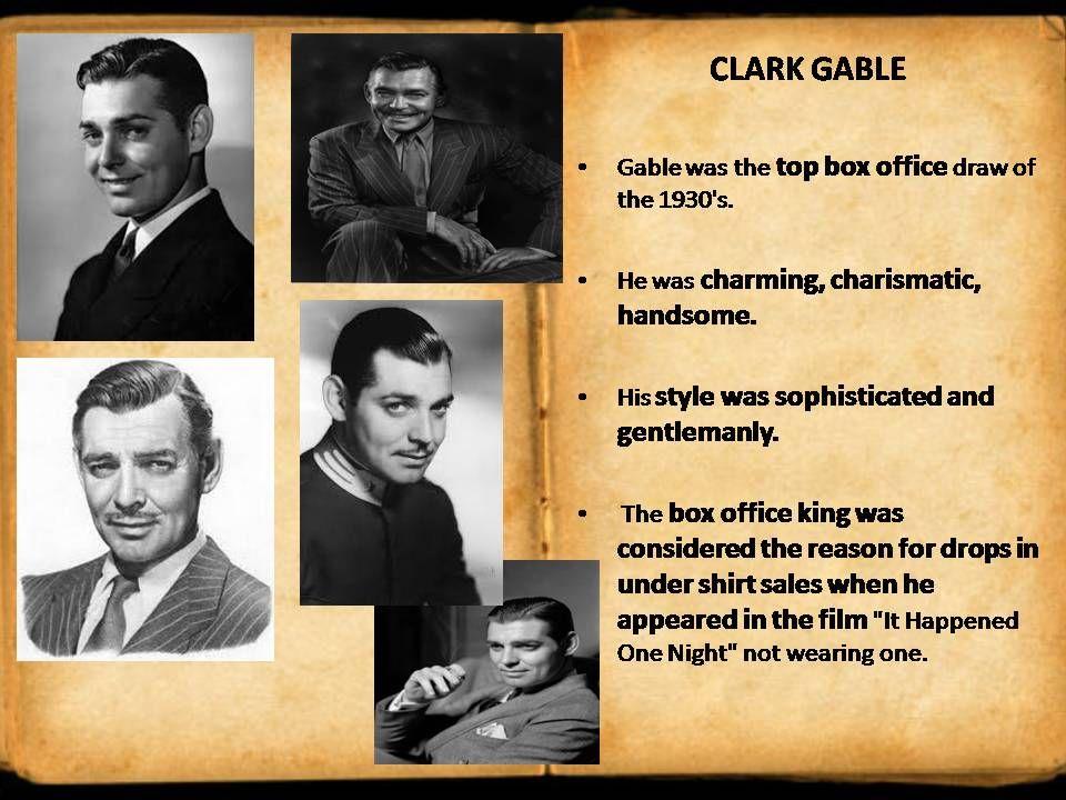 style icon - CLARK GABLE