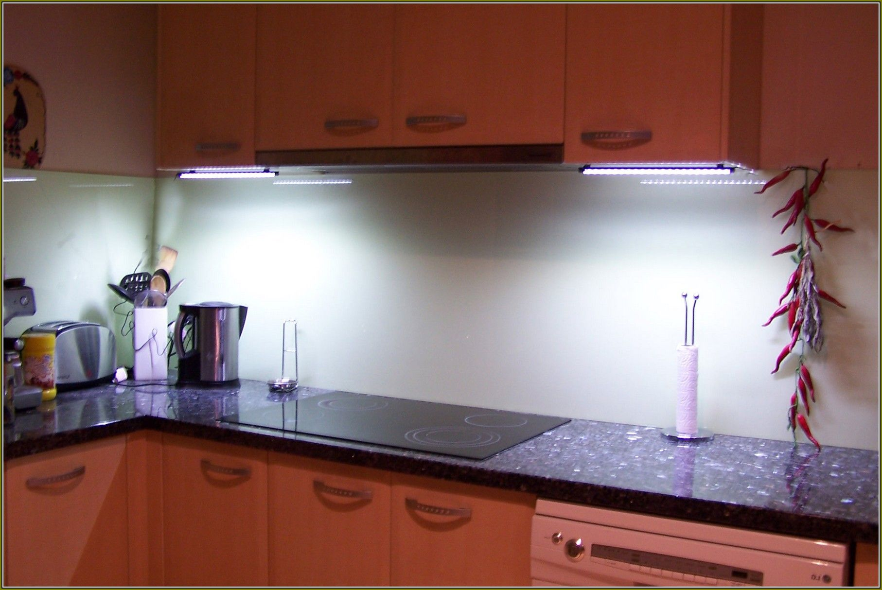 Under Cabinet Led Lighting Hardwired Kitchen Traditional With Breakfast Bar