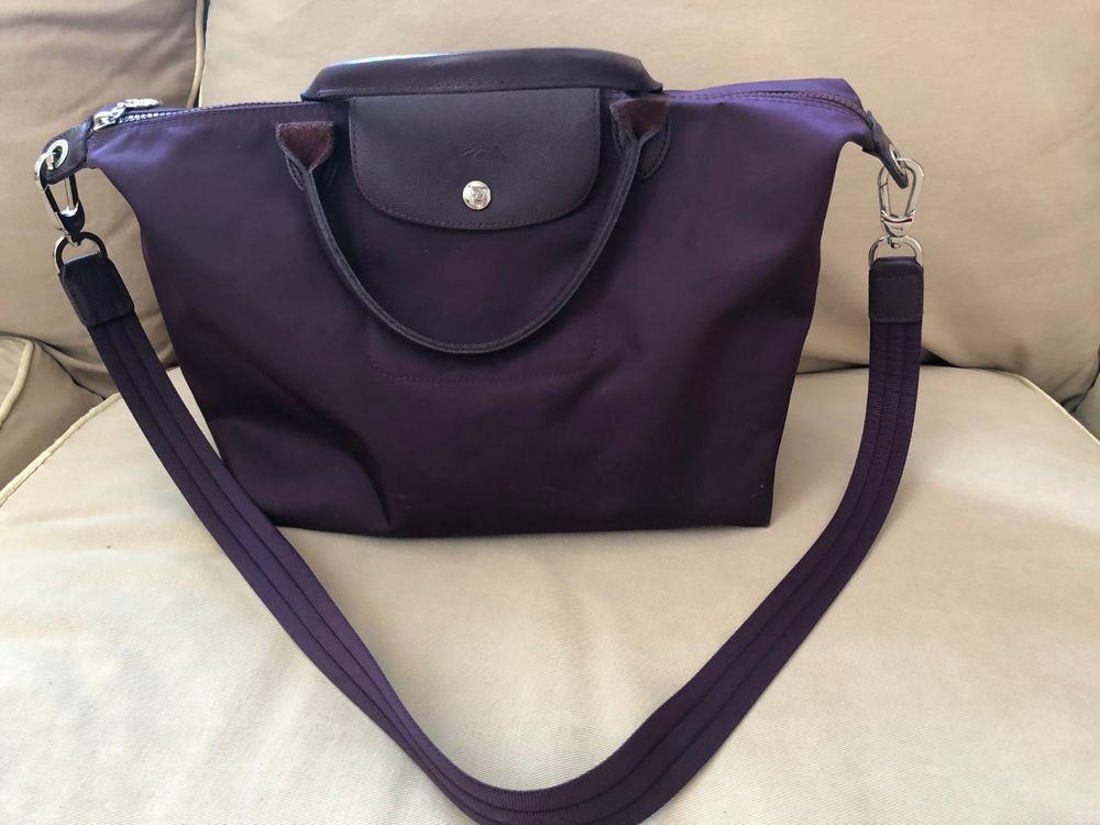 3c9f59d02210 LONGCHAMP Le Pliage NEO Medium Nylon Satchel Crossbody Dark Purple  fashion   clothing  shoes  accessories  womensbagshandbags (ebay link)