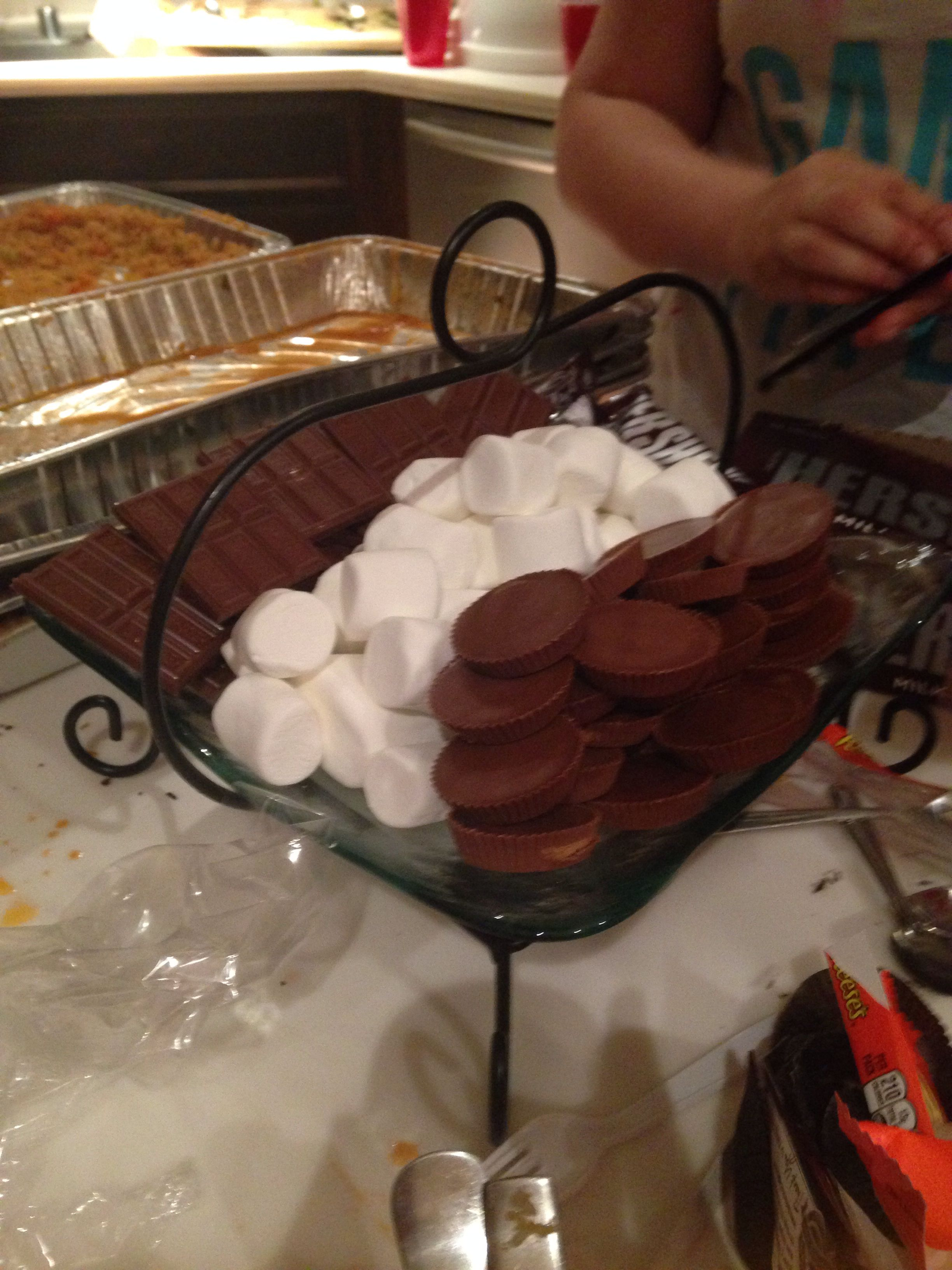 S'mores with Reese's! Yum yum yum!