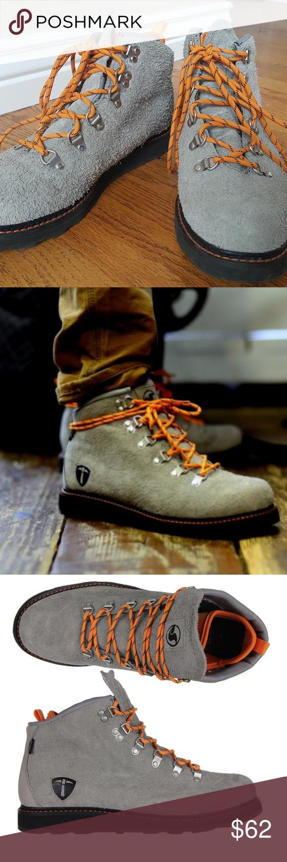 814f7c80438 DVS Mens Yodeler Skate Shoes Ankle Boots Solid shoe! Grey leather ...