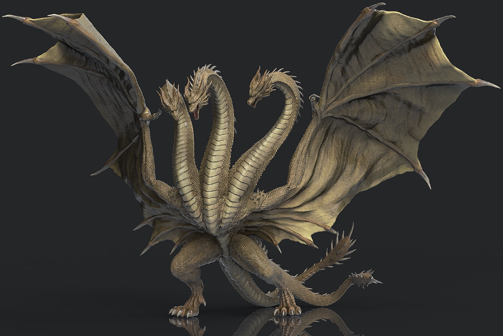 King Ghidorah 3d Completed By Misssaber444 On Deviantart Godzilla Kaiju Art Kaiju Monsters