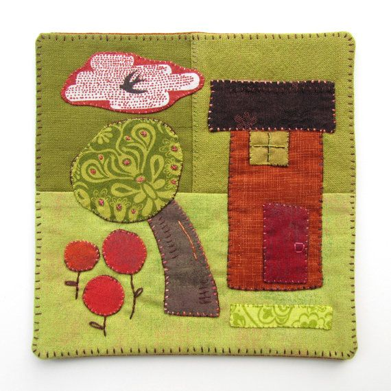 Mini Quilt Wall Hanging Home Sweet Home by VictoriaGertenbach ...
