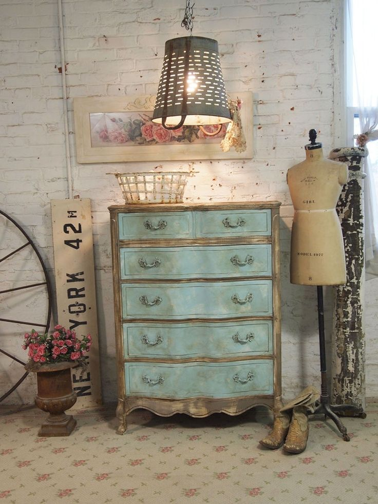 Bon Painted Cottage Furniture , Vintage Painted Furniture. I Love Brown And  Blue Combination Where Ever I Find It
