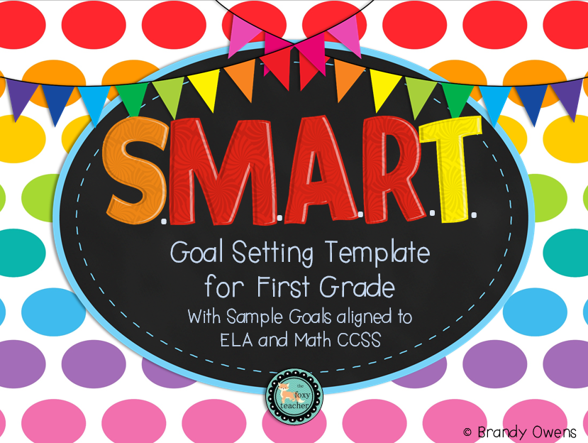 Smart Goal Setting Template For First Grade  Goal Setting