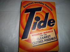 1940 S Vintage Unopened Tide Washing Powder Laundry Soap Box