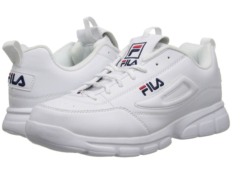 FILA FILA - DISRUPTOR SE (WHITE FILA NAVY FILA RED) MEN S SHOES.  fila   shoes   a049ba1879