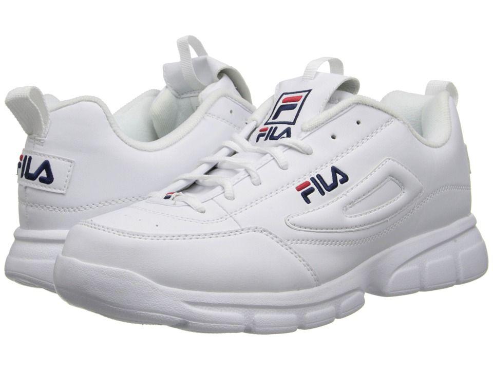 53e1f3ff FILA FILA - DISRUPTOR SE (WHITE/FILA NAVY/FILA RED) MEN'S SHOES ...