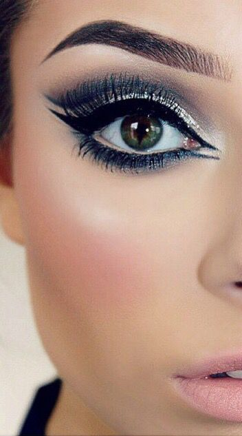 Navy blue, silver, & glitter (With images) | Navy eye ...