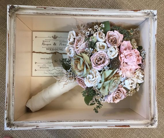 16x20 Shadow Box Floral Preservation Wedding Bouquets Flower