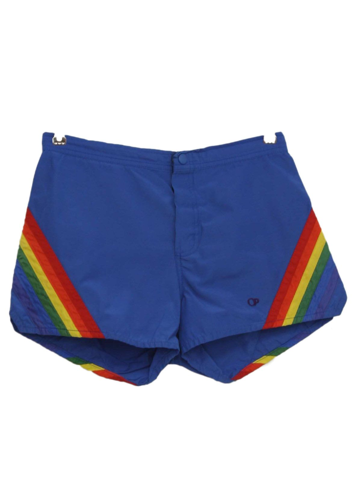 1980 S Ocean Pacific Womens Totally 80s Op Rainbow Shorts