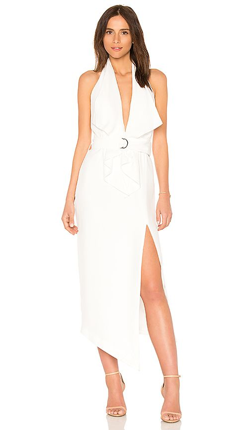Misha Collection Carrie Dress in Ivory | REVOLVE | Britt Grad ...