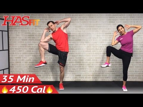 35 min standing abs  low impact cardio workout for