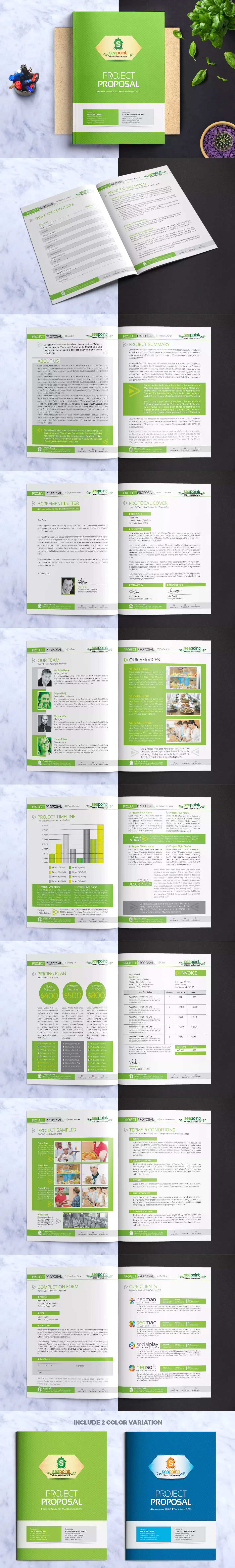 corporate creative clean project proposal template ai eps a4 letter size