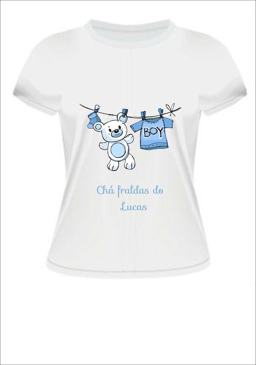 Camiseta Chá de bebê Menino  958d30926d56a