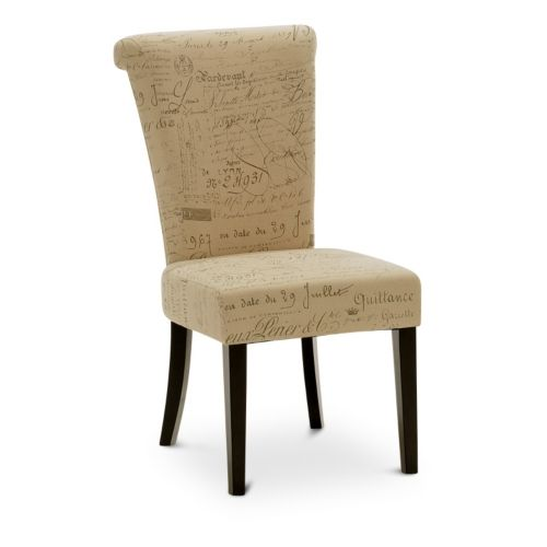 """Napolean Script Linen dining chair at HOM Furniture. $94.  19""""x 26""""D"""