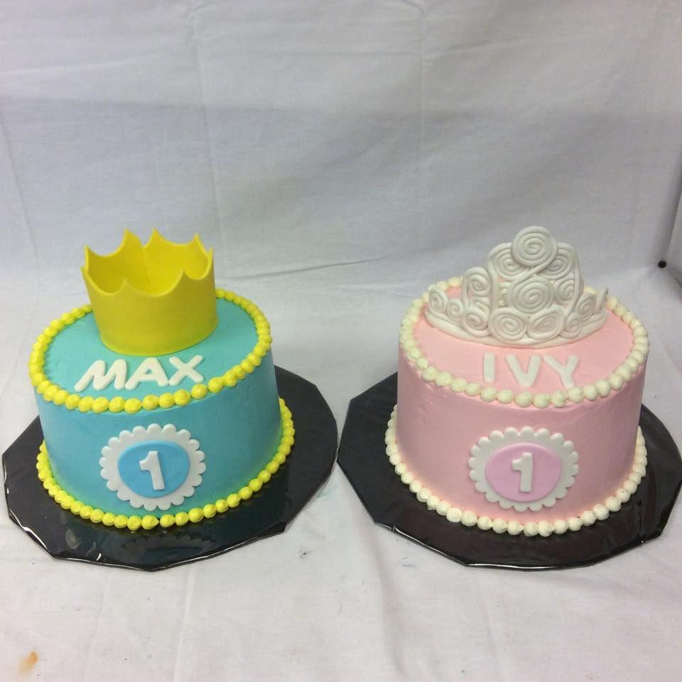 Prince And Princess Crown Birthday Cakes By Bath Cake Company