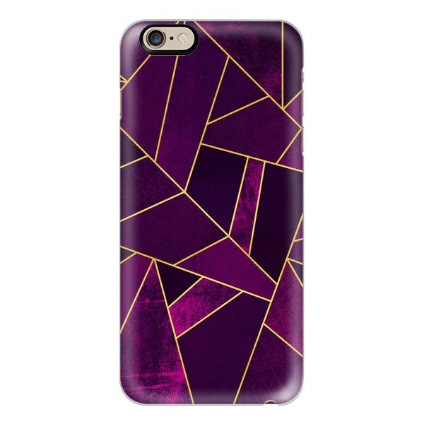 Purple Stone Gold Lines iphone case