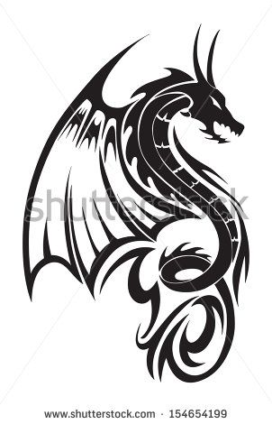 532dbaf2b Dragon Tattoo Stock Photos, Images, & Pictures | Shutterstock ...