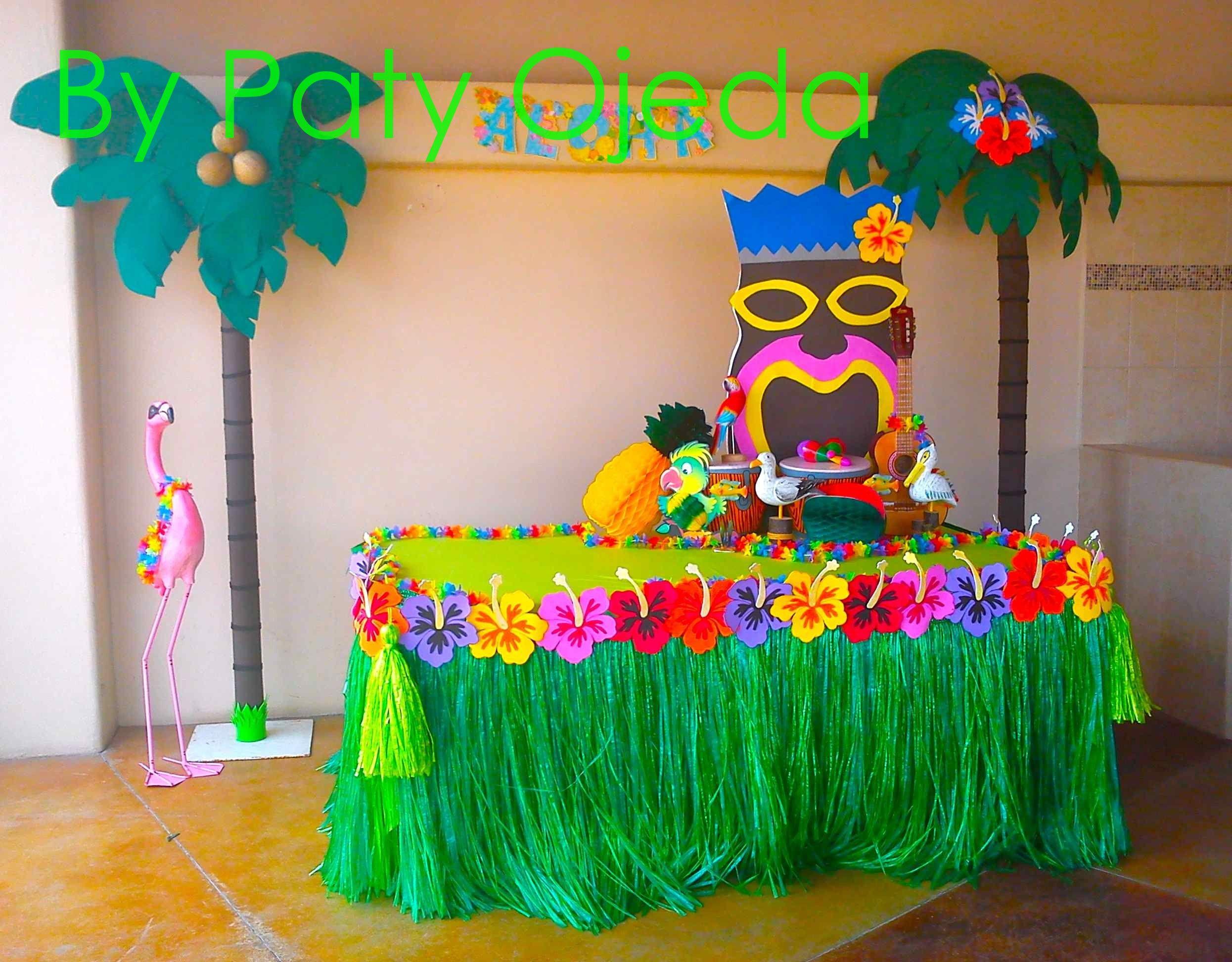 fiesta hawaiana decoracion globos buscar con google