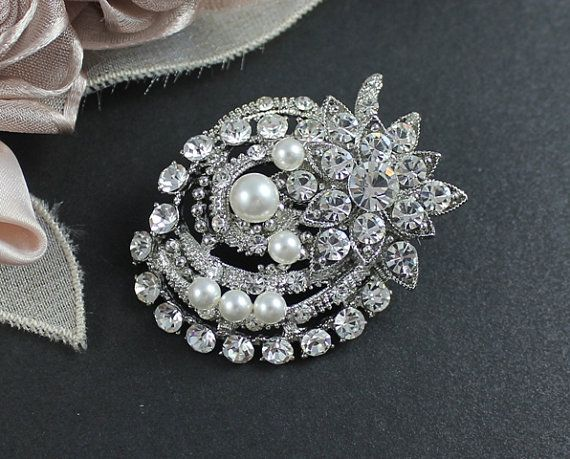 bridal brooch swarovski wedding dress brooch victorian