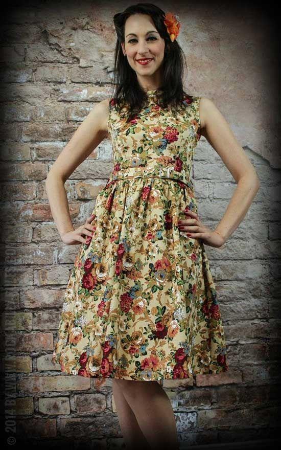 Swingkleid Audrey mit Blumenmuster - 50s Style