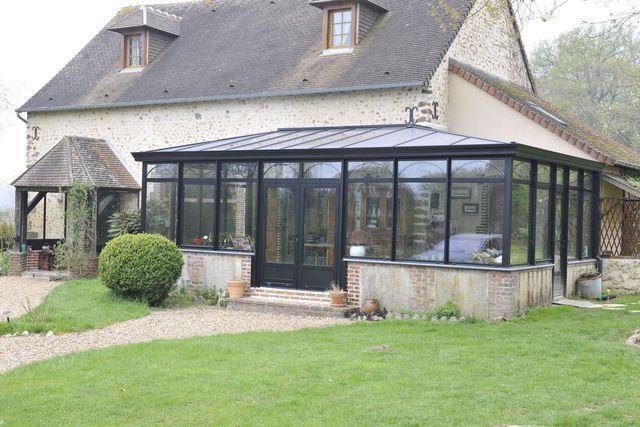 R sultat de recherche d 39 images pour veranda avec muret v randas en 2019 pinterest jardin - Verriere jardin d hiver ...