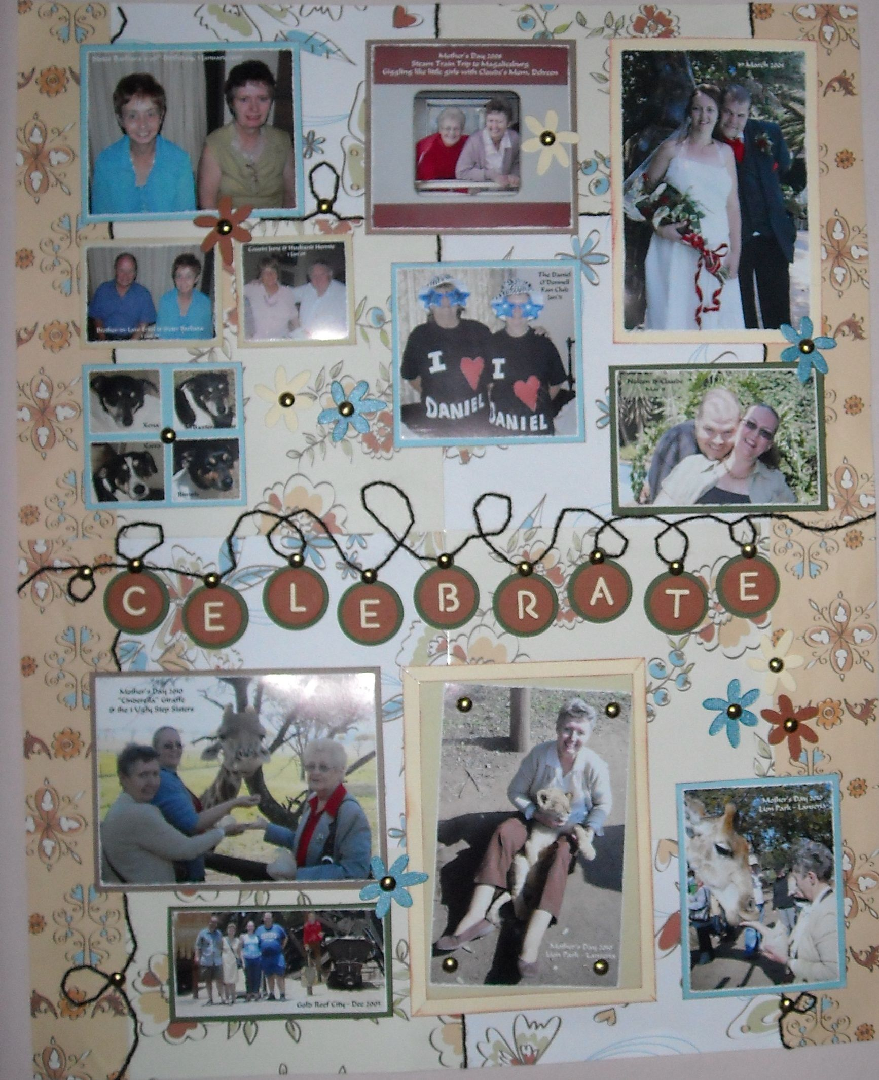 Celebrate 60th Birthday Gift for Mom Scrapbook