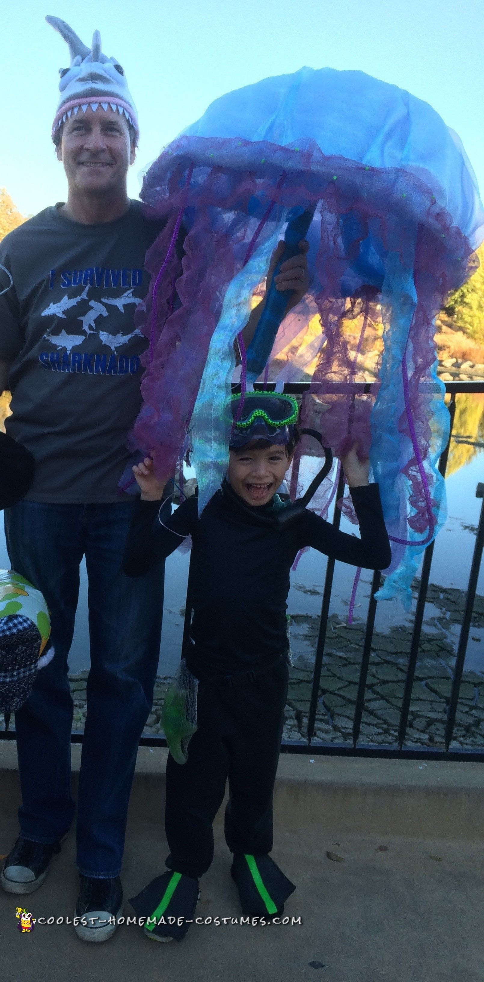 Jellyfish Diving Gear : jellyfish, diving, Scuba, Diver, Trapped, Jellyfish, Costume, Costume,, Homemade, Costumes
