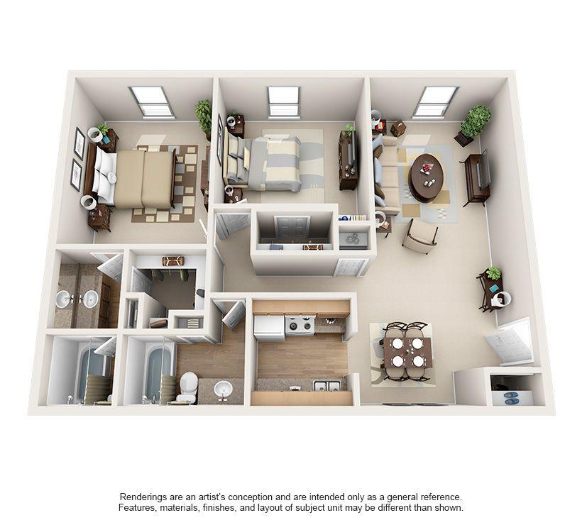 Luxury 1 2 Bedroom Apartments In Bellaire Floor Plans Houston