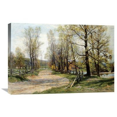 Global Gallery The Country Lane By Hugh Bolton Jones Painting Print On Wrapped Canvas Landscape Painting Prints Painting
