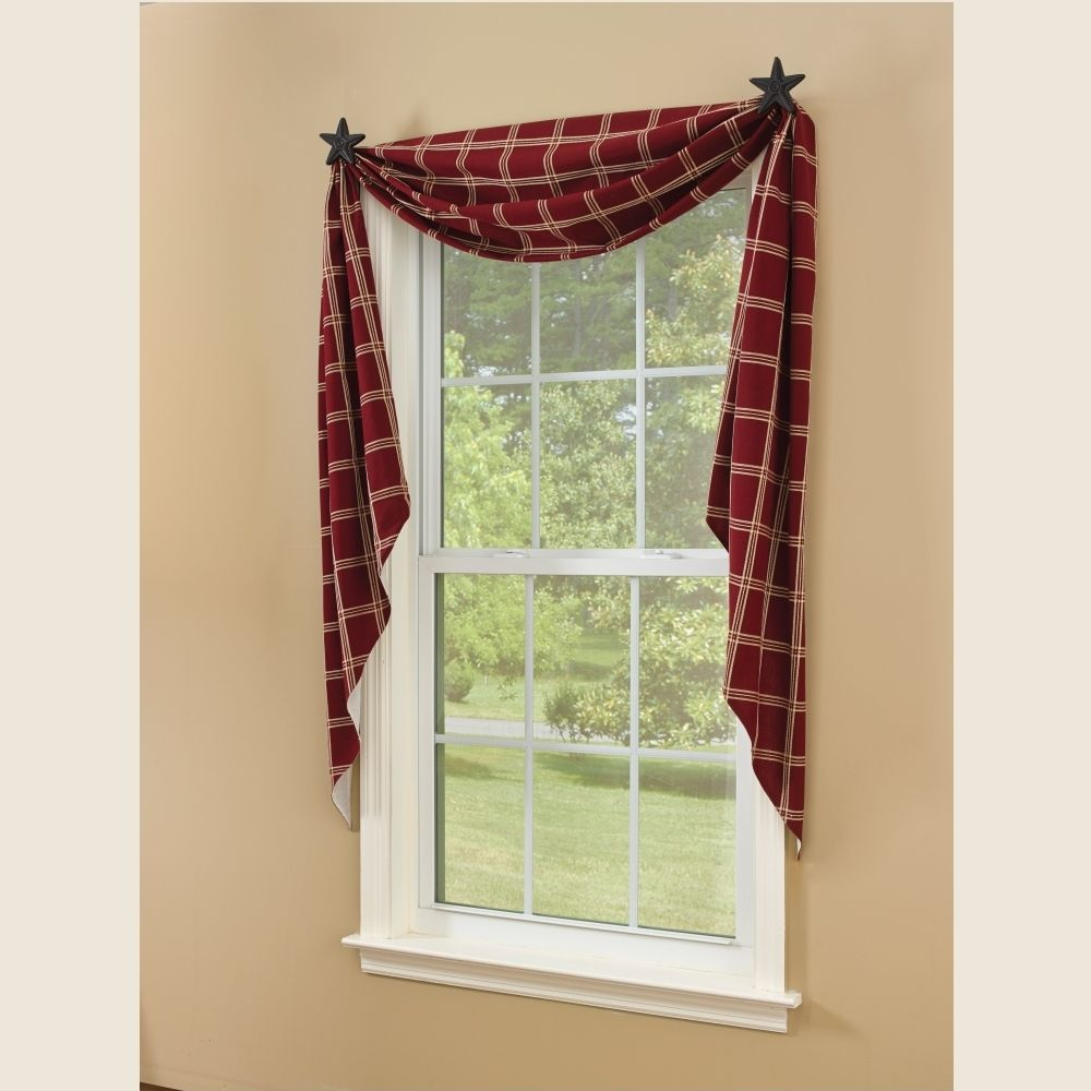 Fishtail Swag Curtains Windsor Star Garnet 145 Quot X 25