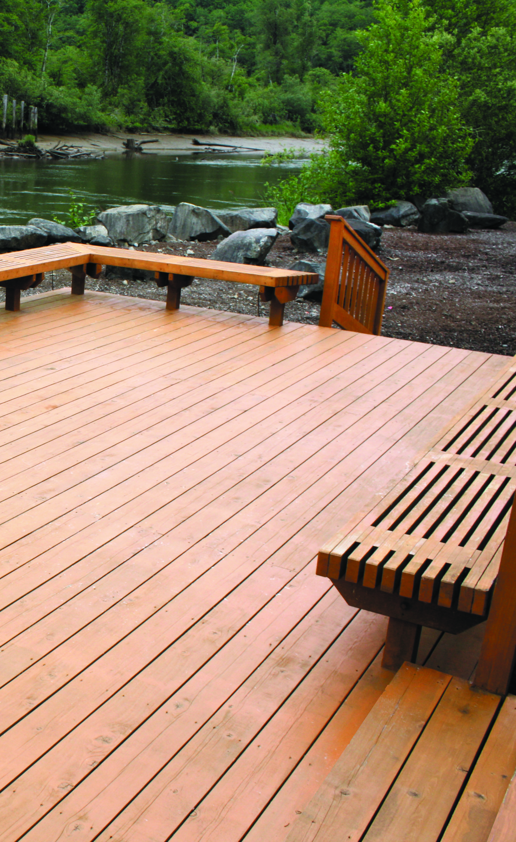 Create A Scenic Outdoor Setting With Red Cedar Decking Easy To Paint And Stain This Distinctive Material Has Unique Texture Natural