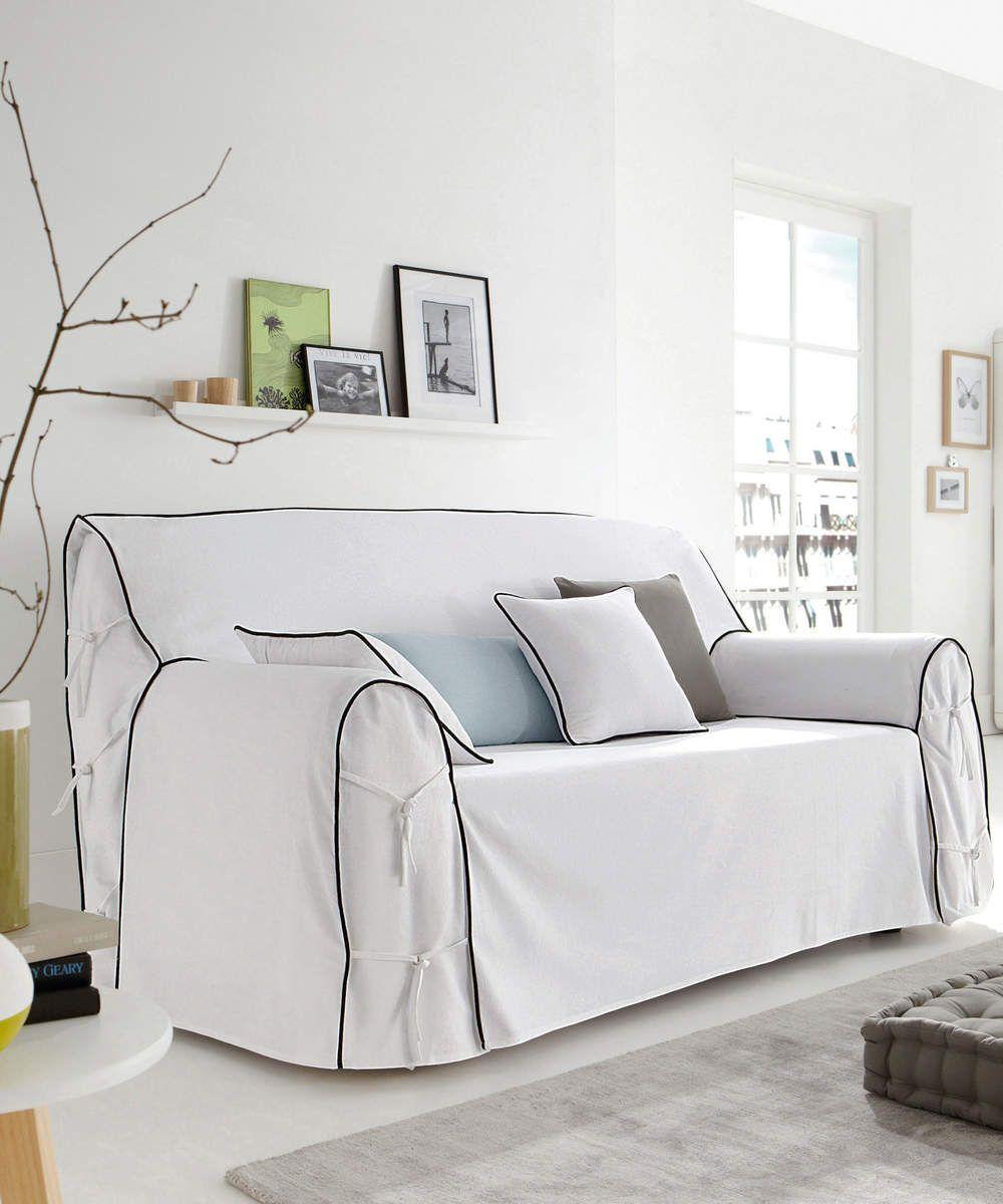 Le Blanc En Deco Housse Canape Mobilier De Salon Et Mobilier Classique