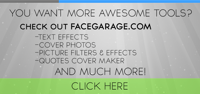 Facegarage Cool Facebook Tools And Resources Text Effects Cover