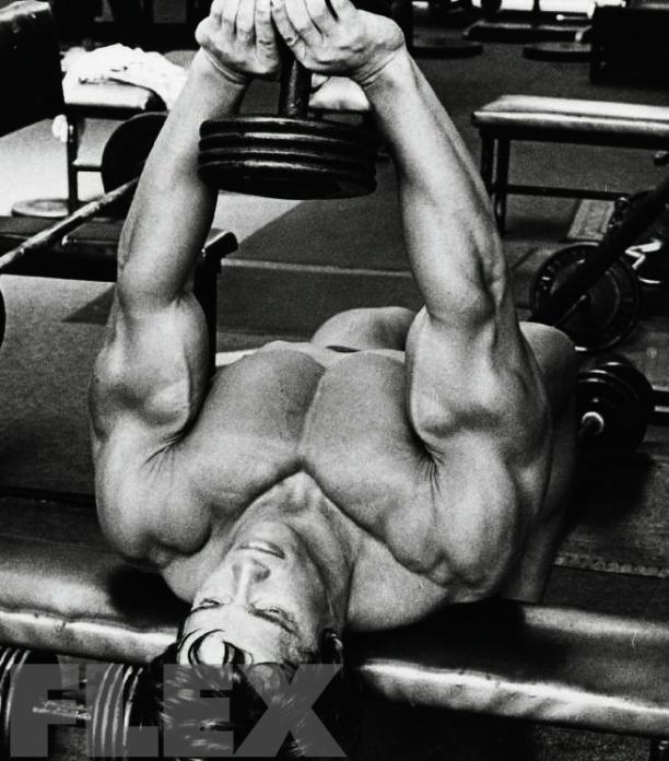 Arnold Schwarzenegger: Pectoral Pointers | FLEX Online | Training ...